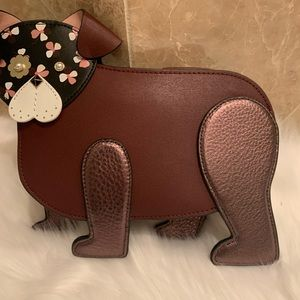 Dog crossbody WKRU6239 floral pup Kate spade brown
